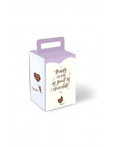 Cadou multumesc cutie metalica ciocolata calda Choc O Lait.